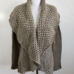 Anthro Elsamanda Italian Mohair Brown Cardigan